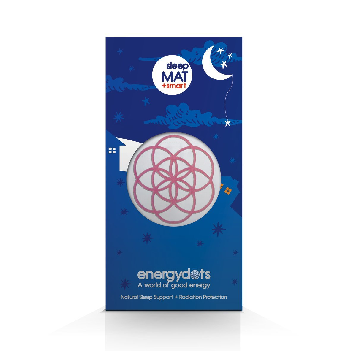 energydots sleepMAT + free smartDOT, organic mat with sleepDOT naturally supports deep nurturing sleep, and a powerful EMF/radiation protection DOT for cell phones, wireless, baby monitor, etc. (Pink)