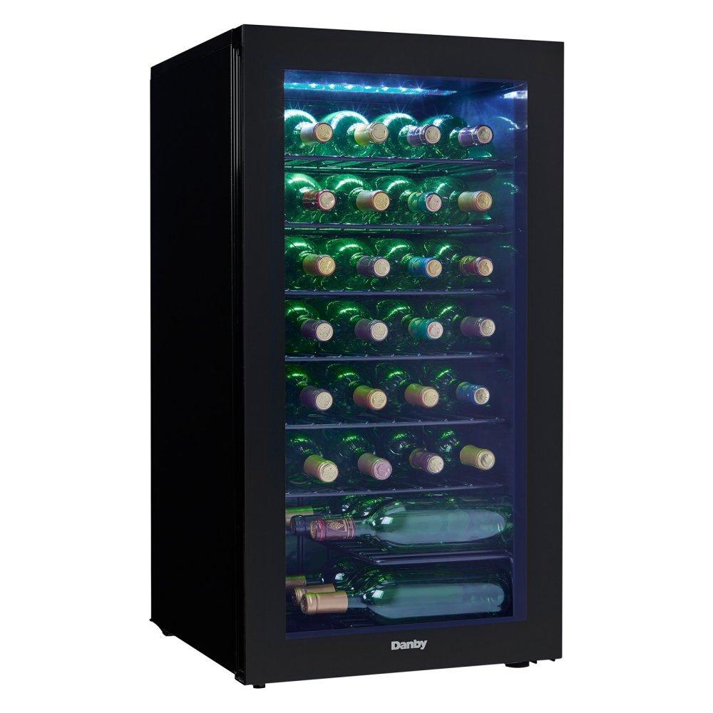 Danby DWC032A2BDB 36 Bottle Wine Cooler - with Glass Door