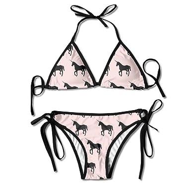 d4afc0a7c6ec5 Amazon.com  Unicorn Two Piece Sexy Bikini Swimsuit For Women Bikini Bathing  Suit  Clothing