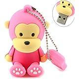 AreTop 16Go Clé USB en Forme de Singe Cadeaux pour Familles, Amis et étudiants (Rose)