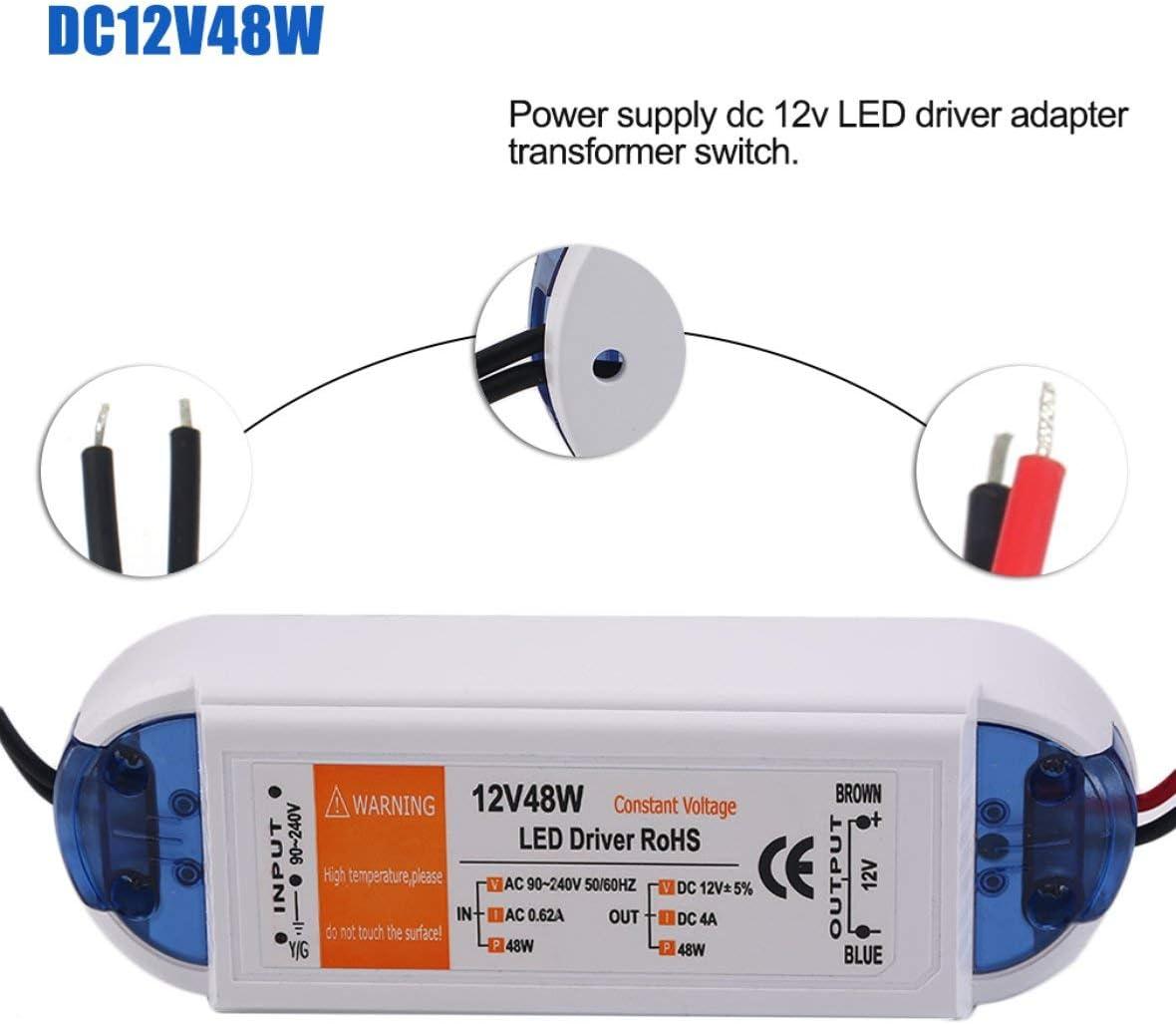 72W 28W 100W Transformateur Adaptateur DC Driver Driver Adaptateur Sortie Sortie 100V-240V pour Bande De LED 48W Heaviesk 18V