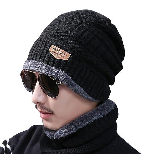 cfb2edbed2cef Jian Ya Na Winter Beanie Hat Scarf Set Plain Color Knitting Hat Warm Thick Winter  Hat