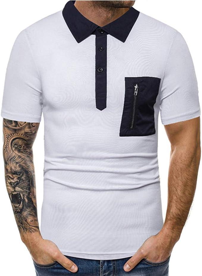 Camiseta para Hombre,Verano Polo Camiseta Deporte Manga Corta ...