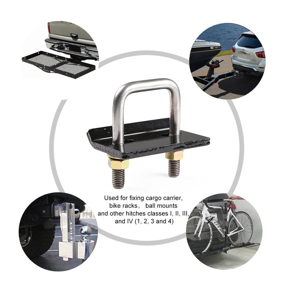 Heavy Duty Anti-Rattle Stabilizer for 1.25 and 2 Hitches 1 CZC AUTO Hitch Tightener Rust Free Reduce Movement from Hitch Tray Cargo Carrier Bike Rack Trailer Ball Mount