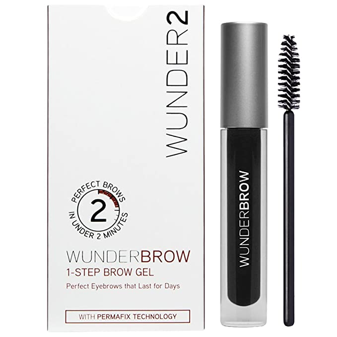 WUNDER2 WUNDERBROW Gel de Cejas Waterproof – Cejas Duraderas con Volumen y Definición, Color Jet Black