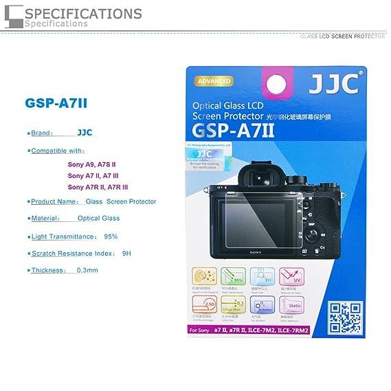 PROfoto.Trend/JJC Protector de Pantalla LCD de Cristal Líquido óptico para Sony A9/ILCE 9, A7S II/ILCE-7SM2, A7 II/ILCE-7M2, A7R II/ILCE-7RM2: Amazon.es: ...