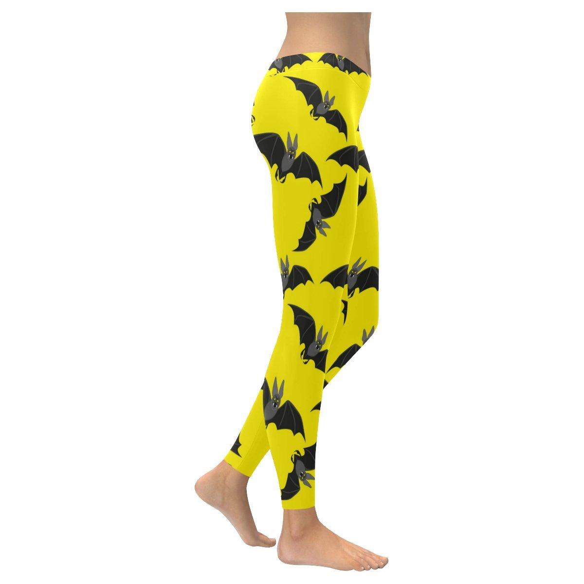 Custom Black Bats Skinny Leggings Women Girls Stretchy Capri Pants for Yoga Pilates Gym,2XS-5XL