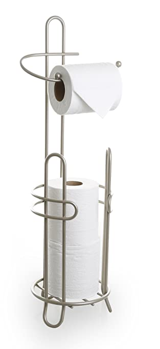 brushed bronze freestanding toilet paper holder standing lowes the free nickel oil rubbed