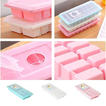 venmo 16 Jelly Chocolate Cubito de hielo congelador bandeja de moldes de plástico Cubos con tapa