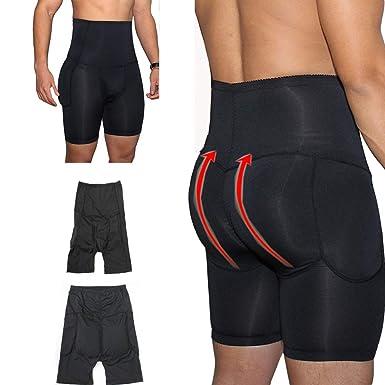 e32fabd5d52 Amazon.com  FashionLevel Mens Padded Underwear High Waist Butt Lifter Slim  Shapewear Plus Size Panties  Clothing