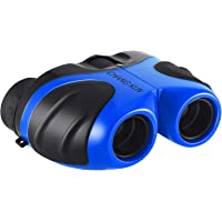 Toys Binoculars for Kids, Compact Shockproof Binoculars High-Resolution 8x21 for Sports and Outdoor Play, Blue