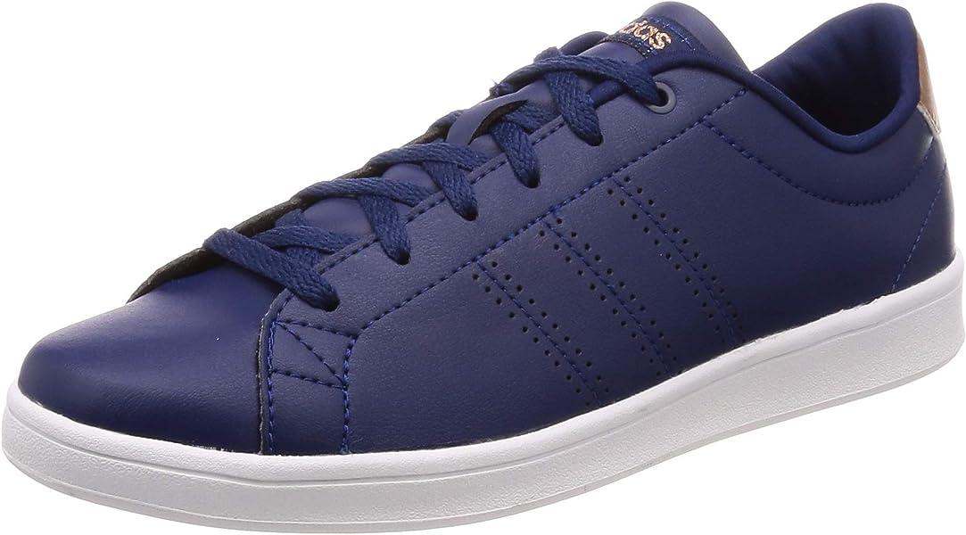4c47fb1774 adidas Women s Advantage Clean Qt Fitness Shoes Blue Azuosc Ftwbla ...