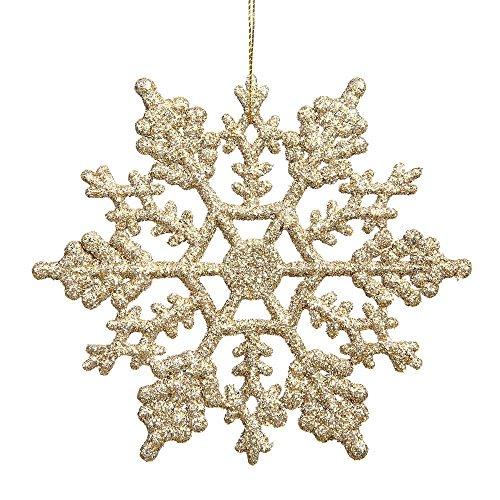 shininglove 24pcs/pack Invierno Glitter Espumoso Copos de nieve Navidad copos de nieve Home Party boda decoraciones adornos...
