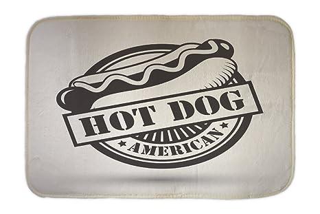 Cama Perro Diversión Nostálgica Hot Dog impreso 40x60 cm