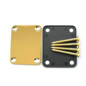 1 SET GOLD NECK PLATE FOR GUITAR