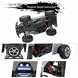 AHAHOO 1:12 Scale RC Cars 35MPH+ High Speed Off-Road Remote Control Vehicle 2.4Ghz Radio Controlled Racing Monster Trucks Rock Climber with LED Light Vision (Silver)