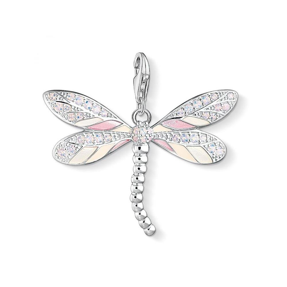 THOMAS SABO Damen-Charm-Anhänger Libelle Charm Club 925 Sterling Silber Y0001-496-9