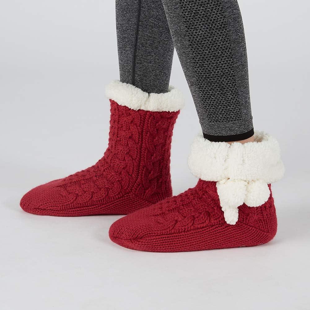 MaaMgic Womens Cozy Warm Fuzzy Slipper Socks Thermal Winter Home Socks