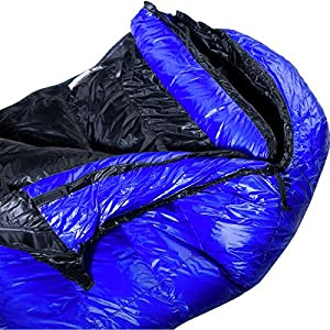 Western Mountaineering UltraLite 20 Degree Sleeping Bag Royal Blue 6FT / Right Zip