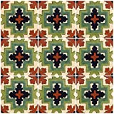 Ceramic Talavera Mexican Tile 4x4'', 9 Pieces (NOT Stickers) A1 Export Quality! - EX212