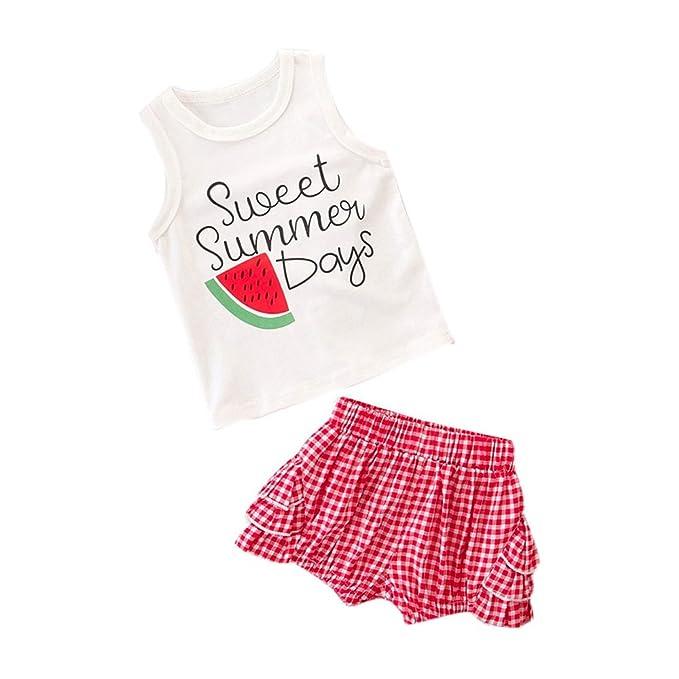 Amazon.com: lurryly ropa bebé niños niñas infantil Sandía ...