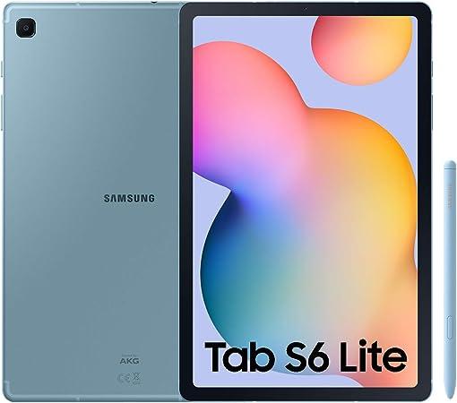 """Oferta amazon: SAMSUNG Galaxy Tab S6 Lite - Tablet de 10.4"""" (LTE, 4G, Procesador Exynos 9611, RAM de 4GB, Almacenamiento de 64GB, Android 10) - Color Azul [Versión española]"""