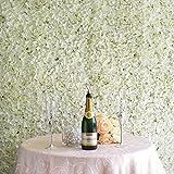 Efavormart 4 PCS Cream Silk Hydrangea Flower Mat Wall Wedding Event Decor