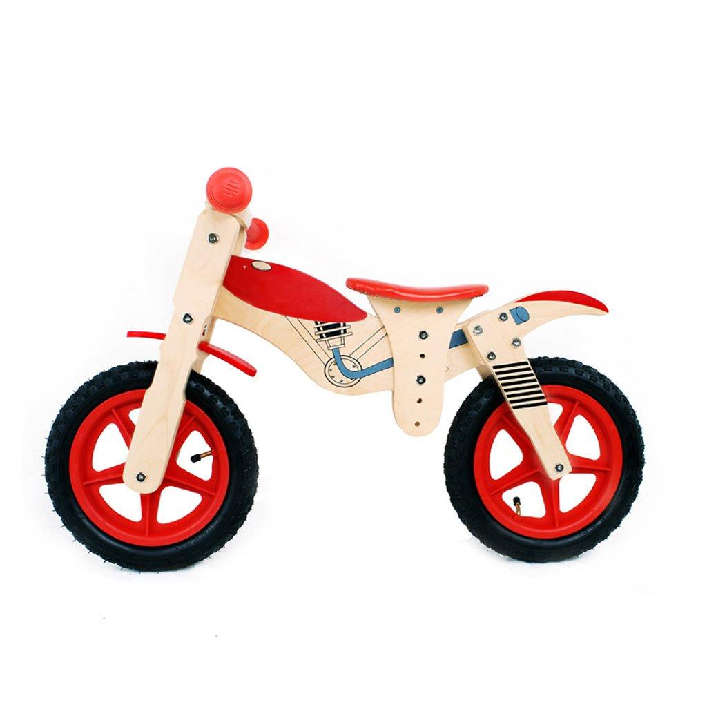 子供のスクーターペダルバランスなし車のインフレータブルベビースクーターバギー子供ダブルホイール自転車3つのラウンド木3-7歳 B07F57FD3Q Red Red