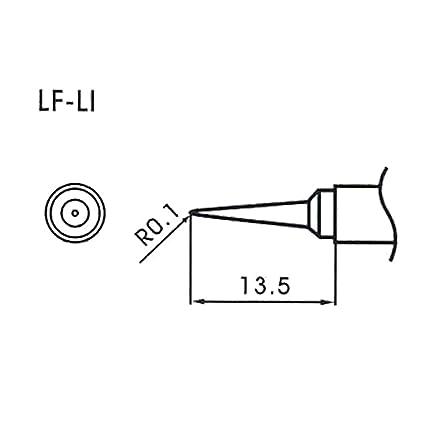 Aoyue LF-LI - Punta de recambio (sin plomo, forma redondeada, 0