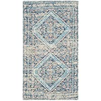 Safavieh Safran Collection SFN577A Hand-loomed Blue Turquoise Distressed Bohemian Cotton Area Rug (3 x 5)