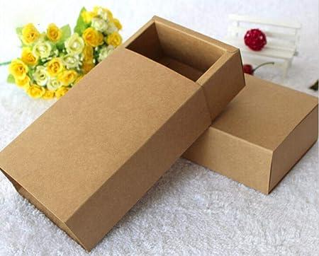 Caja de Regalo de 20 tamaños de Papel Kraft Negro, Caja de cartón Kraft de Color Blanco para Joyas, jabón, Caja de Regalo, Kraft Paper, out 7.5x4x2.8cm: Amazon.es: Hogar