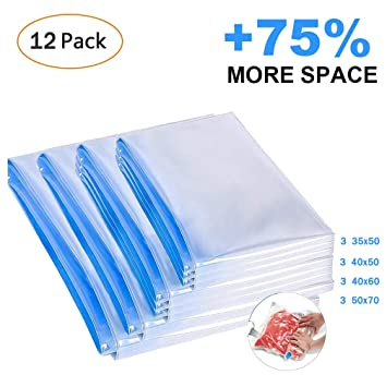 Roll up bolsas de almacenamiento de vacío, 12 PCS de ...