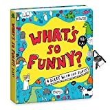 Peaceable Kingdom 'What's So Funny?' 6.25'' Lock and Key Diary with Jokes and Magic Light Pen