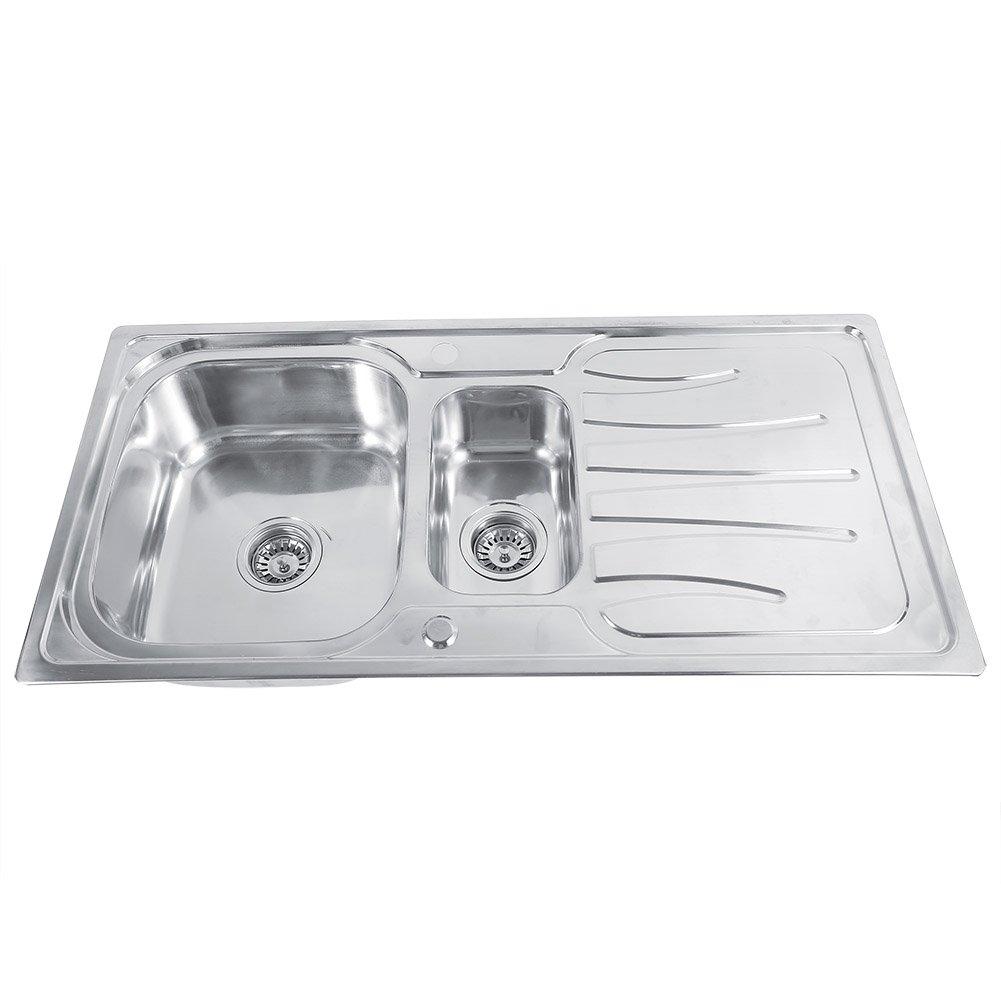 Edelstahl Küchenspüle 1,5 Becken Polished material Einbauspüle ...