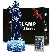 Eleven Stranger Things 3D Nachtlampje voor kinderen, 16 kleuren veranderende nachtlamp met afstandsbediening bedlampje…