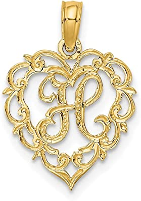14k Yellow Gold Script Letter H Initial Monogram Name Pendant Charm Necklace Fine Jewellery For Women Gifts For Her