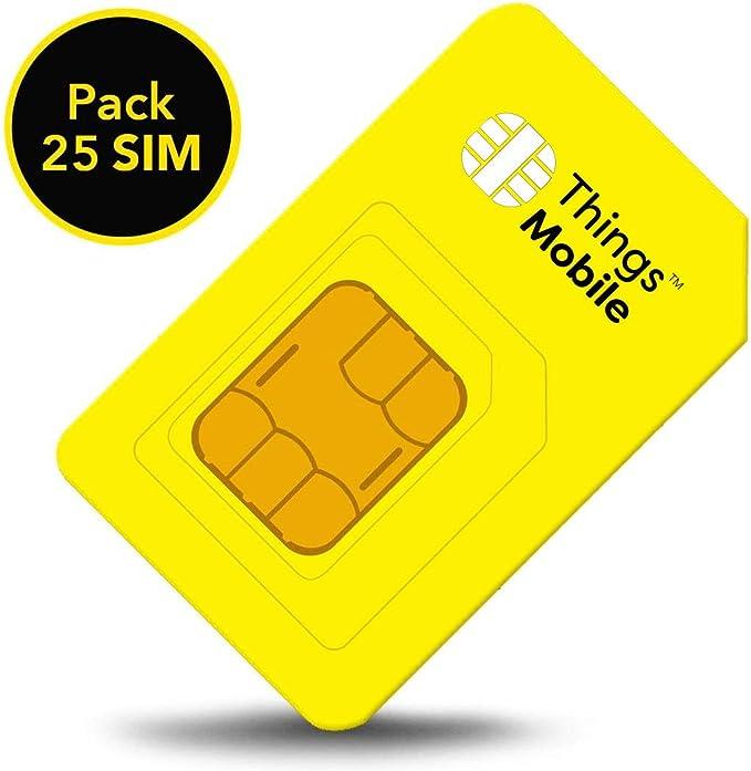 Pack de 25 tarjetas SIM Things Mobile de Prepago para IOT y M2M ...