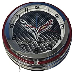 Corvette Double Neon Clock