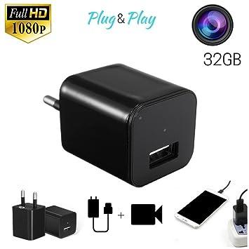 HD 1920 * 1080P cámara oculta USB cargador a pared Cámara Espía ...