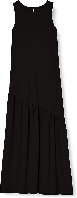 Only Onlmay Life S//L Maxi Volume Dress Jrs Vestito Donna