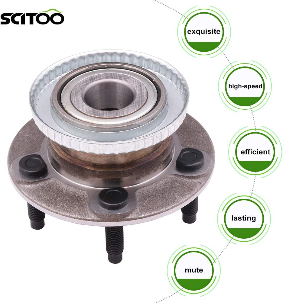 SCITOO 512107 New Rear Wheel Bearing Hub fit 1993-2002 for Lincoln Continental 1993-2007 for Ford Taurus 5 Lugs Axle Hub Assembly Kit W//ABS 2 Pack
