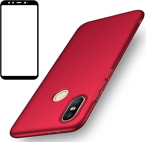 Funda Xiaomi Mi A2, UCMDA Carcasa Xiaomi Mi A2 con Protector de ...