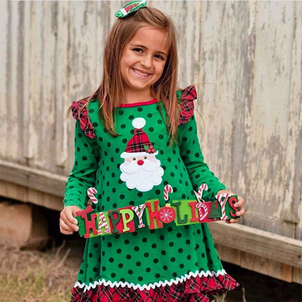INLLADDY Kleid Baby Pullover Winteranzug Kinder Baby M/ädchen Prinzessin Kleidung 1-5 Jahre