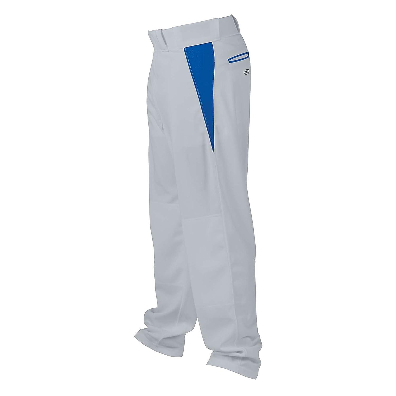 Rawlings ユース リラックスフィット V字型インサート 野球パンツ B005O92B72 XL|Blue Grey with Royal Insert Blue Grey with Royal Insert XL