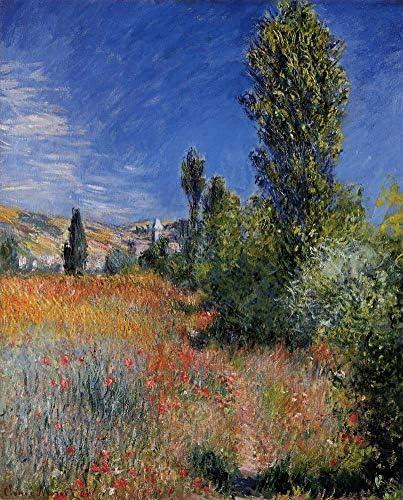 50- 4000 Hand Painted Art Paintings by College Teachers – Claude Monet Landscape on The ILE Saint-Martin Landscape Oil Painting Reproduction for Wall Decor Canvas Old Famous -Size18