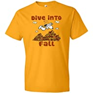 Peanuts Snoopy Dive Into Fall Gold T-Shirt, Officially Licensed