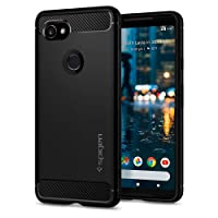 Pixel 2 XL Case, Google Pixel 2 XL Case, Spigen Rugged Armor - Resilient Carbon Fiber Design Soft Case for Google Pixel 2 XL (2017) - Black