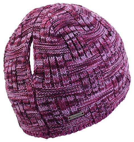 TrailHeads Womens Space Dye Knit Ponytail Beanie