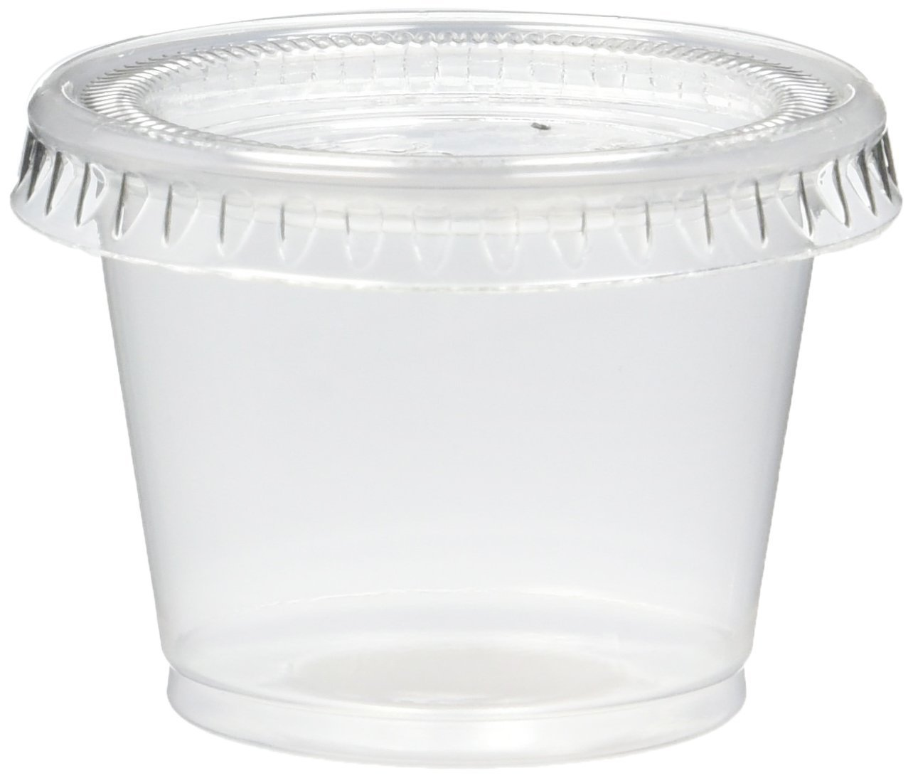 250 Count Jello Shot Souffle Cups and Lids, 1-Ounce, Translucent by Mr. Miracle