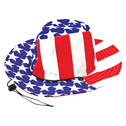 41c9c12f154d1 Amazon.com  U.S. Toy H328 Stars and Stripes Cowboy Hat  Toys   Games